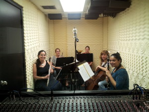 sfce quintet in studio